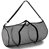 """Champion Sports Mesh Duffle Bag with Zipper and Adjustable Shoulder Strap, 15""""..."""