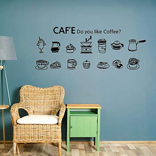 Recién llegado, pegatina de pared de vinilo para café, taza de pastel, etiqueta de café, dormitorio, aula, citas
