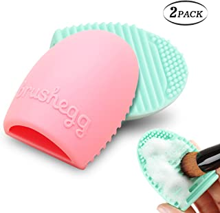 Cleaning Silicone Glove Makeup Brush Celanser Bysiter 2 Piece MakeUp Washing Brush Scrubber Board Makeup Brush Cleaning Egg Finger Glove Brush Washing Tools (2 piece)