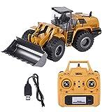 RC Pale gommate, Huina 583 2.4G Bulldozer elettronico a Distanza Camion di Controllo Escavatore Strada Vehicle Engineering con simulato luci Giocattolo di RC