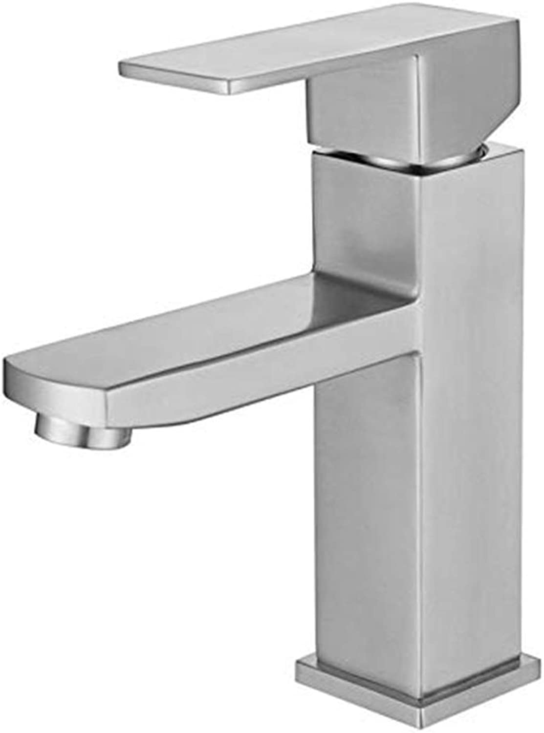 Chrome-Plated Adjustable Temperature-Sensitive Led Faucet304 Bathroom Stainless Steel Hot and Cold Toilet Bathroom Above Counter Basin Stainless Steel Basin