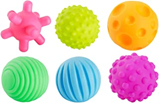 LuDa 6X Children Infant Textured Multi Balls Set Touch Hand Ball Massage Baby Toys