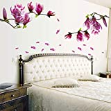Decoración de la Pared de la Etiqueta engomada desprendible, Etiqueta de la Pared de la Flor, Prenda Impermeable para la decoración del Dormitorio para el hogar