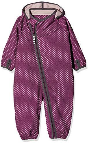 Racoon Baby-Mädchen Molly Softshelloverall (Wassersäule 5.000) Schneeanzug, Violett (Dark Purple DAR), 98