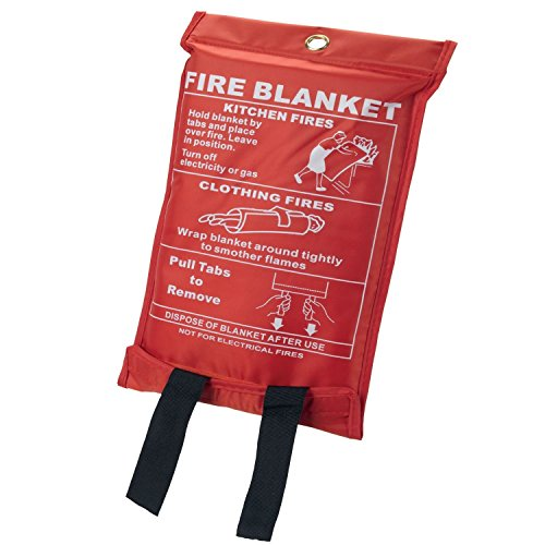 1m x 1m Quick Release Safety Fire Blanket In Case