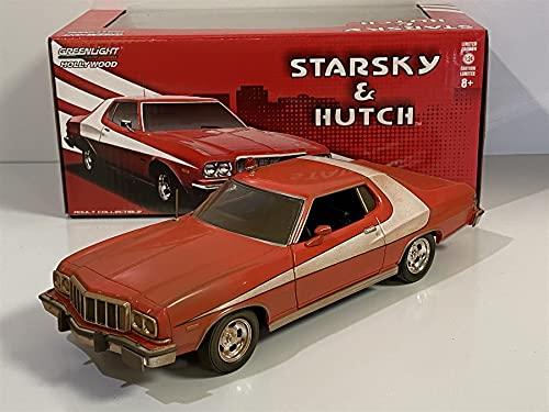 Greenlight - 84121-1976 FORD GRAN TORINO Modello DieCast Auto Sporca WEATHERED Starsky & Hutch ORIGINALE - Multicolore - Scala 1/24 20cm