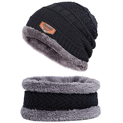 Muts twee stuks winter vrouwen breien hoed vrouwen herfst winter wol cap mode winter vrouwen hoed balaclava hoed mannen hoed groothandel