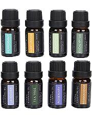 8st Aromaterapi Eterisk Olja för Spa spridare Aromaterapi, Ren Naturlig Doftolja för Luftfuktarmassage, Aromaterapi Eterisk Oljesats för Kropps och Hårvård