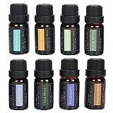 Juego de 8 aceites esenciales de aromaterapia con fragancias naturales puras para difusor, humidificador, masaje, aromaterapia, cuidado de la piel y el cabello