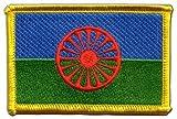 Flaggenfritze Flaggen Aufnäher Sinti und Roma Fahne Patch