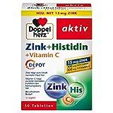 Doppelherz Zink + Histidin + Vitamin C DEPOT – mit Zink als Beitrag für die normale Funktion des...