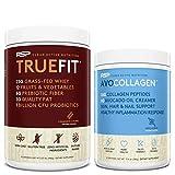 TrueFit Protein Powder (Churro 2 LB) with AvoCollagen Collagen Peptides (Vanilla 20 Servings)
