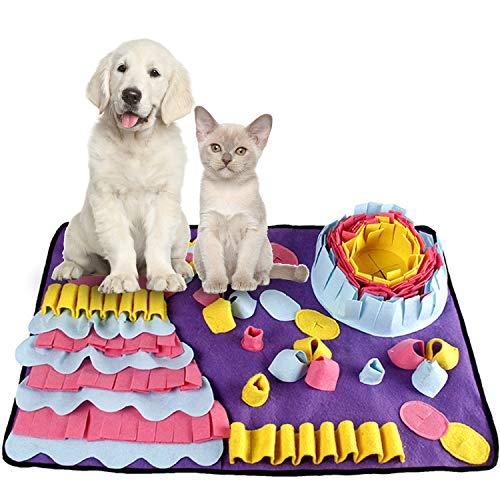 Smatcamp Schnüffelteppich Hund Intelligenzspielzeug für Hunde Waschbar Faltbar Rutschfest Schnüffbelmatte Hundespielzeug Intelligenz Spielzeug für Hunde Katzen (27.5\'\' x 19.7\'\')