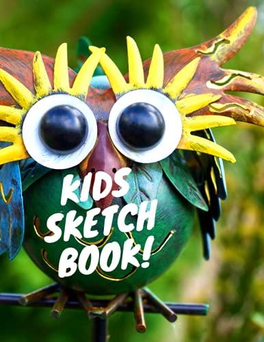 Kids Sketch Book!: Children's Cool Owl Sketch Book