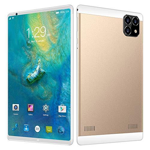 ELLENS Tableta Android de 8 Pulgadas, CPU de Cuatro núcleos, 1 GB de RAM, 16 GB de ROM, extensión de 128 GB, teléfono Desbloqueado con Doble SIM, WiFi, GPS, Bluetooth