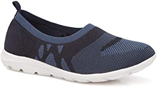 Pavers Womens Lightweight Slip On Trainers Sporty Stretch Knit Upper Shoes