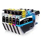 LxTek Compatible Remplacer pour Brother LC3213 LC-3213 Cartouches d'encre pour Brother DCP-J572DW MFC-J491DW MFC-J497DW MFC J890DW...