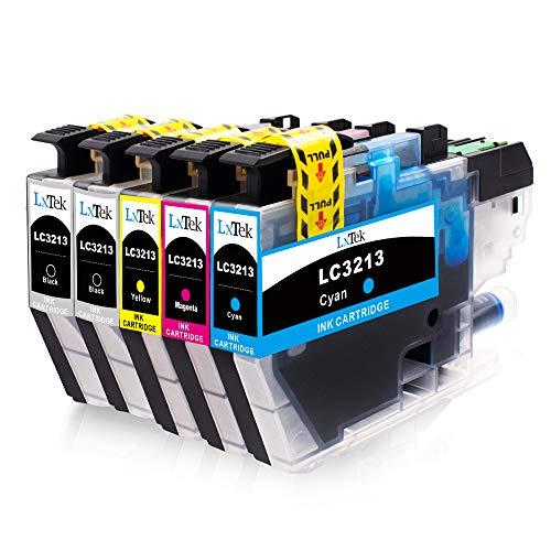 5 LxTek LC3213 Patronen Kompatibel für Brother LC3213 LC-3213 Druckerpatronen für Brother DCP-J572DW MFC-J491DW MFC-J497DW MFC-J890DW MFC-J895DW DCP-J774DW (2 Schwarz, 1 Cyan, 1 Magenta, 1 Gelb)