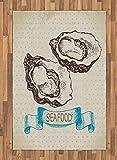 ABAKUHAUS Ostrica Moquette Tessuta Piatta, Sketch Virginica Oyster, per Soggiorno Camera d...