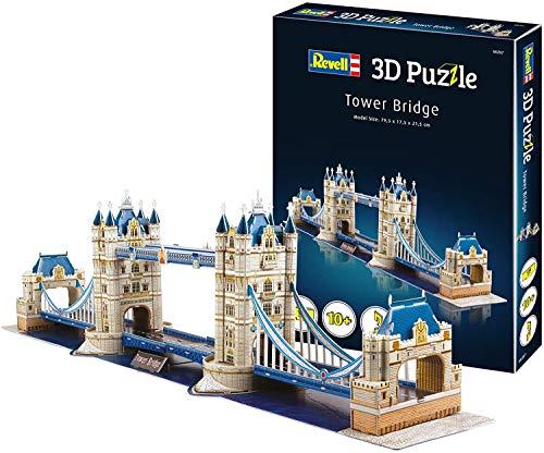 Revell 207 Tower Bridge aus London, eines der bekanntesten Bauwerke, Breite 80 cm Zubehör, Farbig