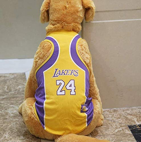 'N/A' Pet T-Shirt, Dog Summer Apparel Puppy Pet Clothes for Dogs Cute Soft Vest Basketball Team (L)