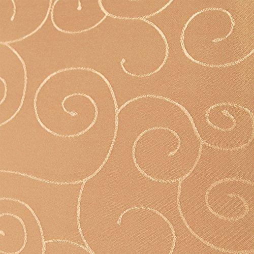 amp-artshop Tafeldecke Paulina Eckig 135x180 cm Terra Apricot - Farbe wählbar · Fleckabweisend Tischdecke