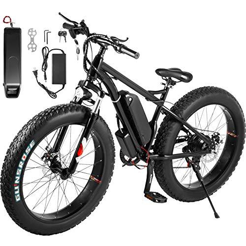Miaoyou 350W Elektro Mountainbike / Unisex / 26 Zoll Reifen / Mountainbike / E-Bike / 48V10A Lithium Akku / 21 Gang Elektro Geländewagen / mit Smart Ladegerät 220V2A