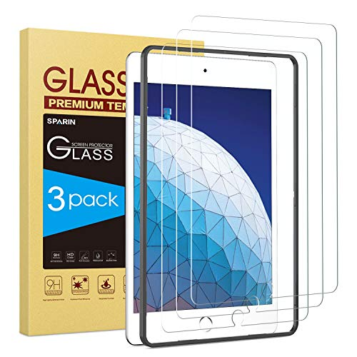 Check Out This Screen Protector for iPad Air 3, [3 Pack] SPARIN 9H Premium Tempered Glass for iPad A...