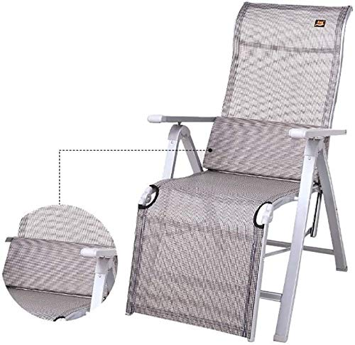 UIZSDIUZ Sedie a Sdraio Sdraio Zero Gravity Pieghevole reclinabile Sedia con Cuscino Lombare, Portatile Campo Culla Reclinabile