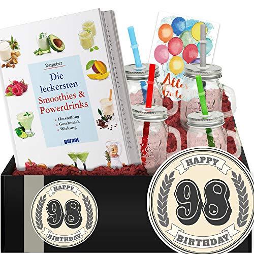 Geschenkidee 98. Geburtstag - Powerdrinks DIY-Geschenk - Zum 98 Geburtstag Frauen