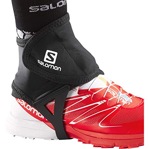 Salomon 1 Par de polainas de trail running, Trail Gaiters Low, Mezcla de sintéticos, Negro, L