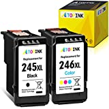 ATOPINK Remanufactured Ink Cartridge Replacement for Canon PG-245XL CL-246 245XL 246XL Work with Pixma MX492 TR4520 MX490 MG3022 MG2924 MG3020 MG2520 TR4527 TS202 IP2820 (1 Black, 1 Tri-Color) 2-Pack