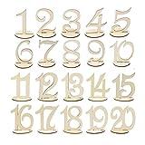 Wskderliner Numeros para Mesas de Bodas 1 A 20 Números para Artesanía en Madera Decoración de Mesa para Fiesta de Cumpleaños Hotel
