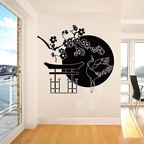 wZUN Luna Debajo de la Pared, calcomanías de Aves, Pegatinas de Animales, decoración de la Sala de Estar del hogar, extraíble 68X61cm