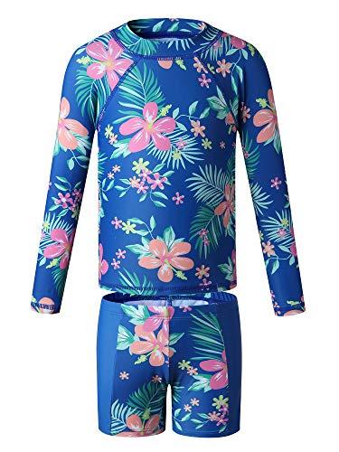 Caracilia Baby Girls Kids Toddler 2 Piece Swimwear Rash Guard UV Sun Protection Swimsuit Bathing Suits ZWY28-T04S-3XL