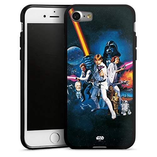 DeinDesign Silikon Hülle kompatibel mit Apple iPhone 7 Case schwarz Handyhülle Fanartikel Star Wars Episode IV