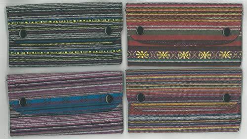 FLAMINAIRE HIPPY Tabaktasche mit Kartenhalter und Reißverschluss hinten, 16,5 x 9 cm