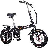 20'Faltrad mit Variabler Geschwindigkeit, Faltrad für Erwachsene und Kinder, 7-Gang-Getriebesystem,...