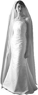 Shop Ginger Wedding Handmade USA 1 Tier Chapel Bridal Veil Cut Raw Edge (Ivory)