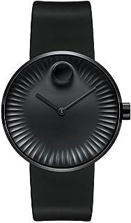Movado - Edge 3680005 - Reloj de cuarzo suizo con esfera de aluminio y esfera negra