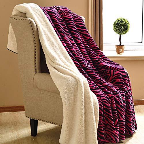 Asbecky Mantas Cubre Sofas Manta de Forro Polar de Doble Capa para Mantener el Calor en Invierno, Manta Simple/Doble-El 100x150cm_T