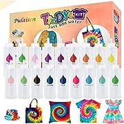 Tie Dye Kits, Tye Dye Kit, Double Refill Dyes, One-Step Fabric Dye Art Party Set, DIY Gift, Textile, T-Shirt, Canvas for Adults, Women, Men, Artist, Children, Party, Festival Gift…(18colors)
