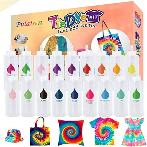 Tie Dye Kit, Tie Dye kit for Kids, 18 Bottles 36 Packets Dye, One-Step Fabric...