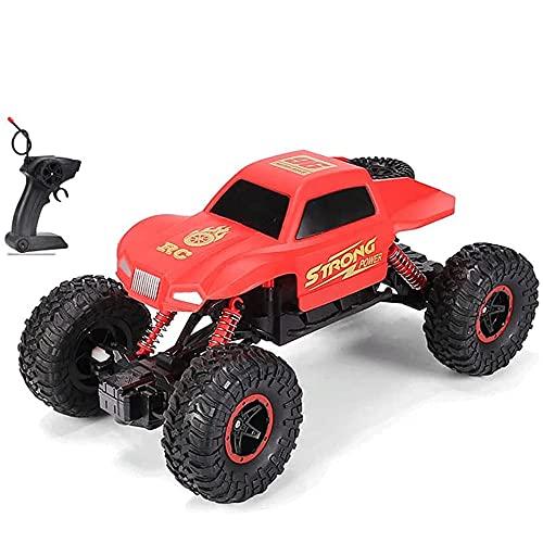 TTKD Children's Mountain 4 × 4 Off-Road RC Car Bigfoot Climbing 2.4G Buggy de control remoto Escala 1:16 Carga inalámbrica todo terreno Modelo de vehículo de juguete eléctrico Niño Regalo de cumpleaño