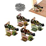 4 PCS Folding Bracket, TopDirect Iron Folding Lock Extension Table Chair Bed Leg Foldable Support Brackets Hinge Self Lock Hinges with Screws