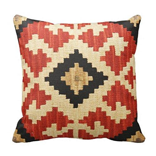 Generic genérica suave de algodón y lino del amortiguador de la cubierta de almohada almohadilla de tiro Modelos tribales geométrica almohadilla de la caja Decoración Wester indio nativo