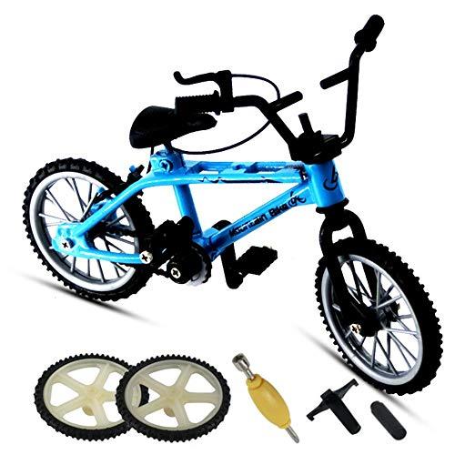 Tongyundacheng Finger Bike Finger Skateboard Set, Finger Mountainbike, Mini Extreme Sport Finger Fahrrad Skateboard Cool Boy Spielzeug Kreatives Spiel Spielzeug Set Sammlungen Kuchen Dekoration