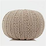 XER Marroquí Grande Puffe Pouffe Footstool Chunky Hand Pouf Pouf Pie Taburete Taburete de Estar Moderno Asiento de cojín por Confort Colecciones,Flesh