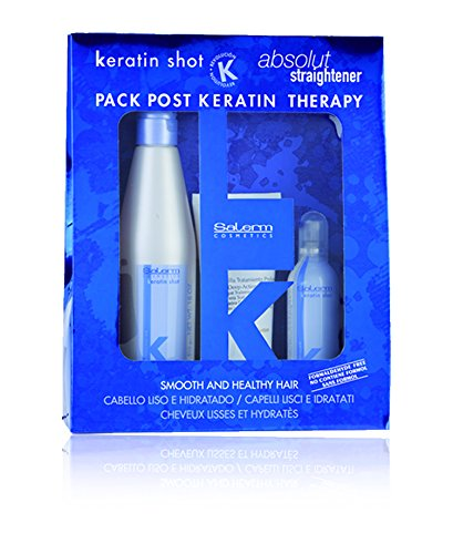 Salerm Cosmetics Kit Keratin Shot Mantenimiento Tratamiento - Paquete de 3 x 266.67 ml - Total: 4.00ml