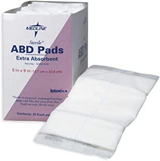"NON21450 Sterile & Latex-Free Abdominal Pads, 5"" x 9"" (Pack of 400)"